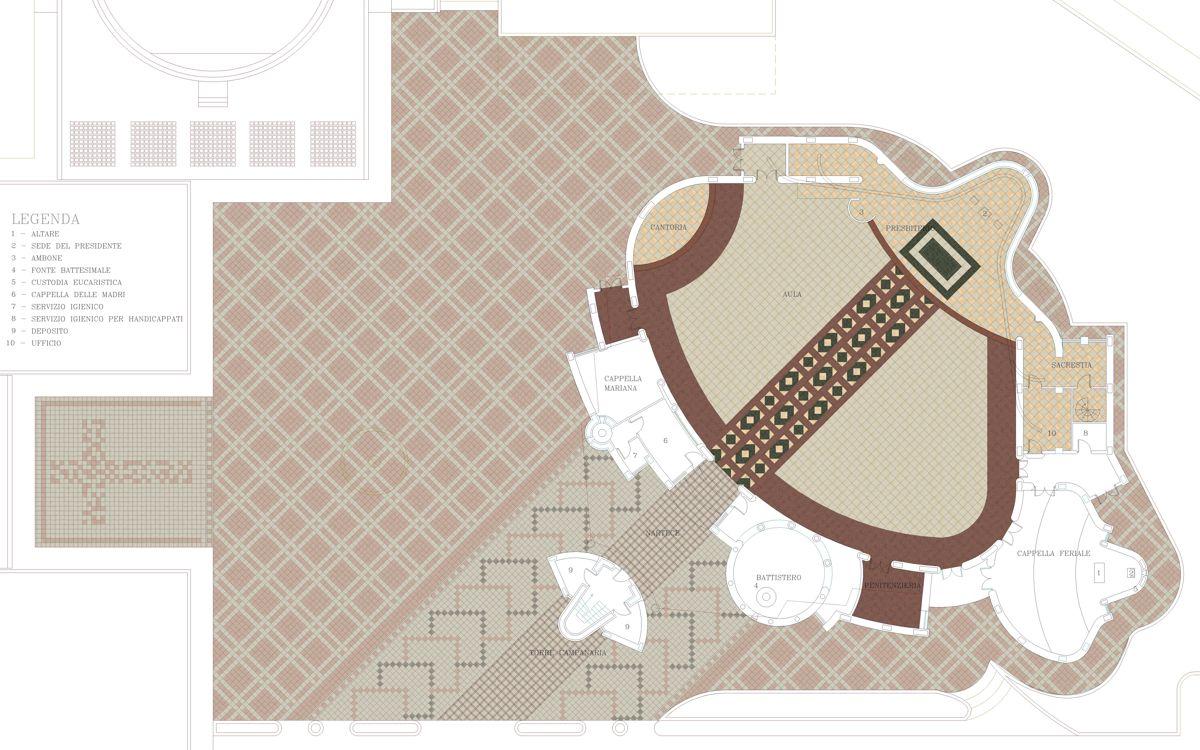 Render 2D Pavimento Chiesa
