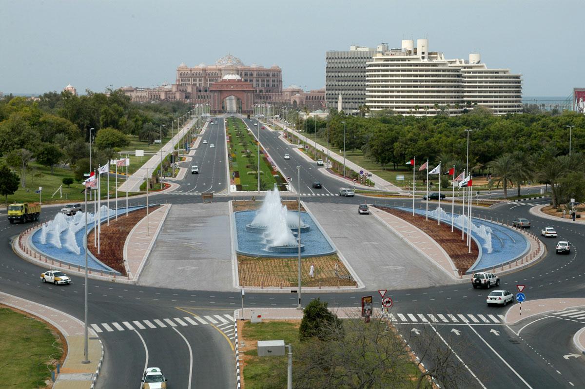 Render 3D Strada Abu Dhabi Fotorealistico
